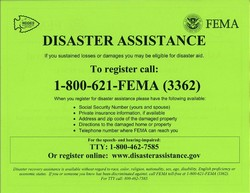Disaster Assistance Poster