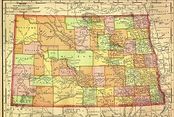 North Dakota 1895 Map