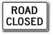 Picture of Road Closed sign