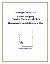 Cover Page of the Burleigh County Hazardous Materials Response Plan