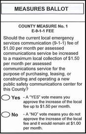 County Measure Ballot