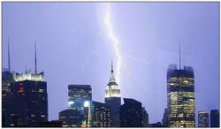 Picture of Lightning and Building Towers