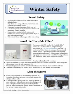 Winter Safety Tips Poster
